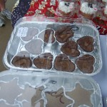 Brownies with caramel and pecans